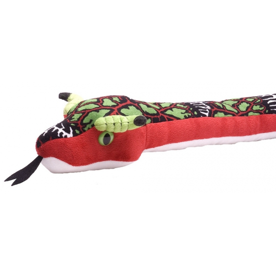 Pluche rode knuffel slang 137 cm