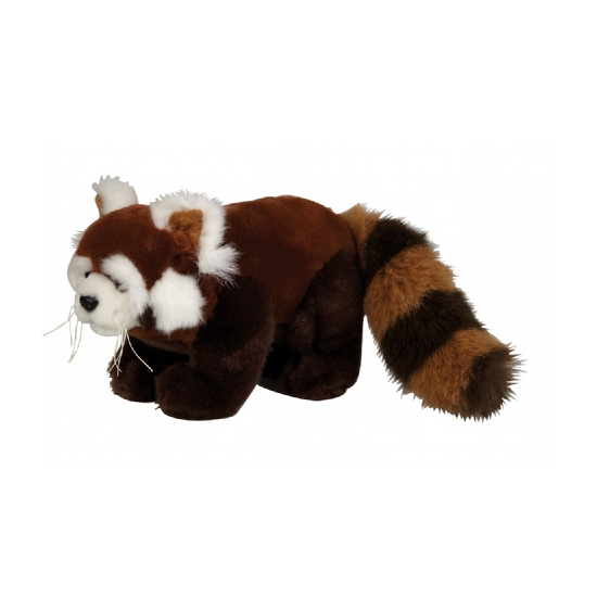 Pluche rode panda knuffel 20 cm