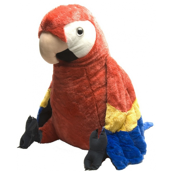 Pluche rode papegaai knuffels 76 cm