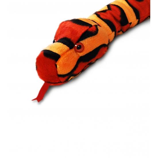 Pluche rode slang 200 cm