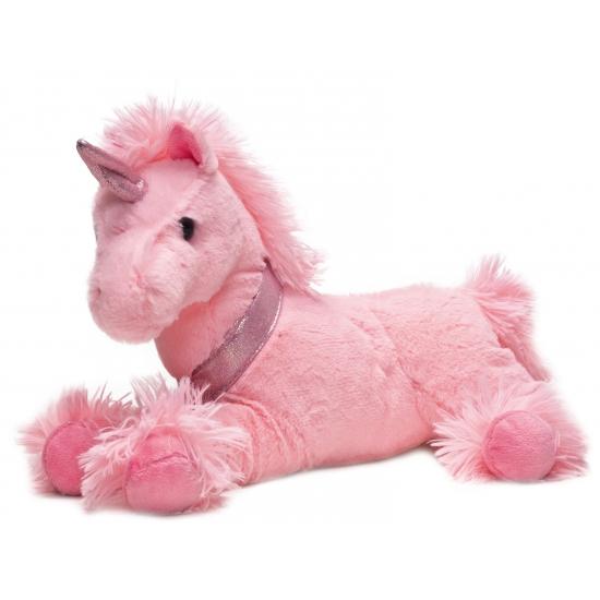 Pluche roze eenhoorn knuffel 33 cm