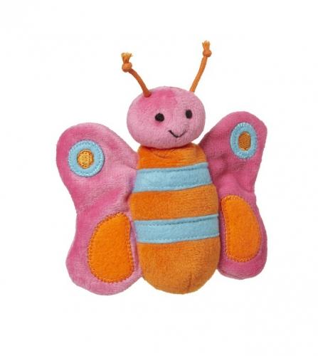 Pluche roze vlinder knuffeltje 10 cm