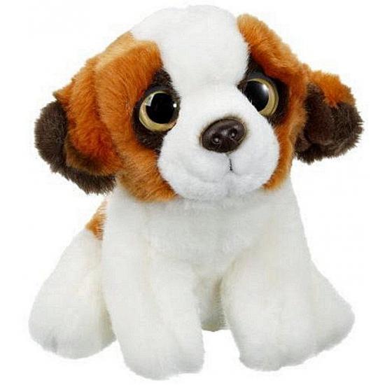 Pluche Sint Bernard hond knuffel 20 cm