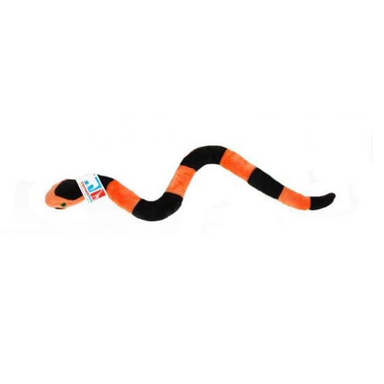 Pluche slang rood zwart 45 cm