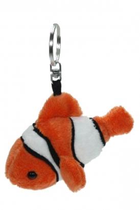 Pluche sleutelhanger clownvis 12 cm