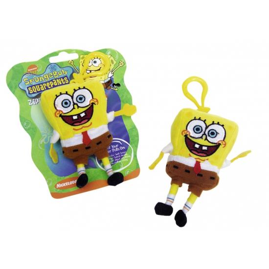 Pluche Spongebob sleutelhangers 12 cm