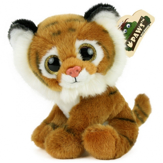 Pluche tijger met glitter ogen 22 cm