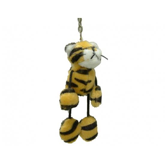 Pluche tijger sleutelhanger 5 cm