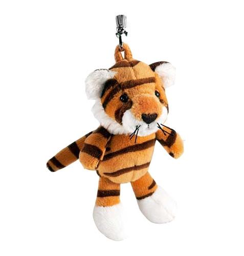 Pluche tijger sleutelhanger