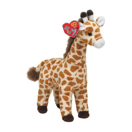 Pluche Ty Beanie giraffe Topper