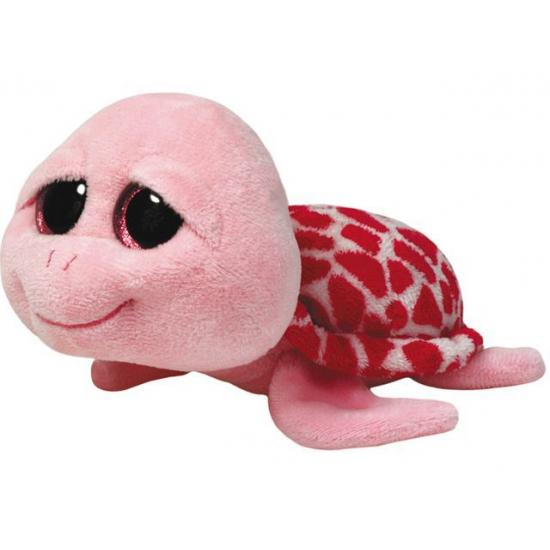 Pluche Ty Beanie schildpad roze 24 cm