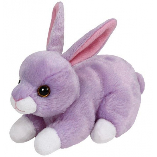 Pluche Ty Boo konijn knuffel paars 15 cm
