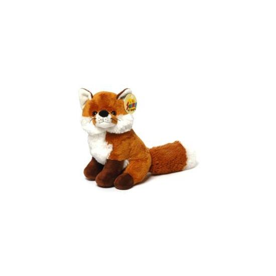 Pluche vos knuffeltje zittend 20 cm