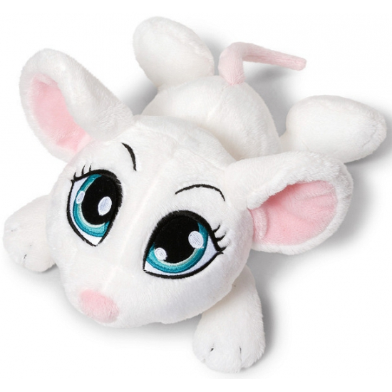 Pluche witte muizen 25 cm