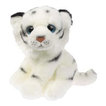 Pluche witte tijger knuffel 18 cm