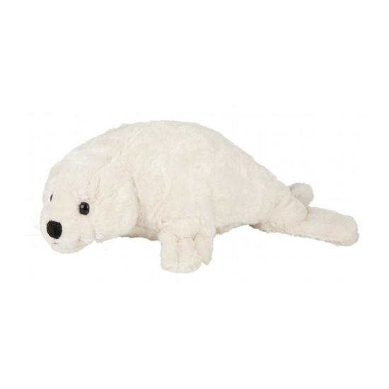 Pluche witte zeehond 40 cm