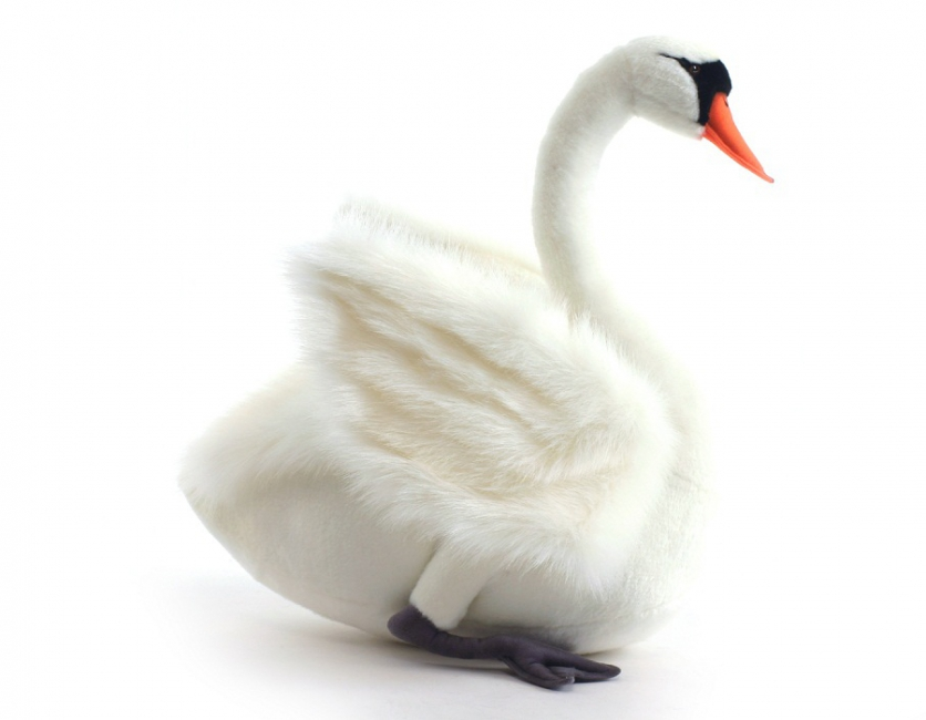 Pluche witte zwaan 45 cm