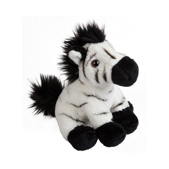 Pluche zebra knuffelbeest 15 cm