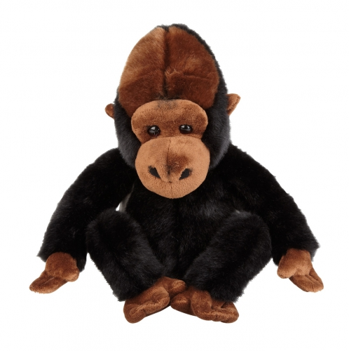 Pluche zilverrug gorilla knuffel 25 cm