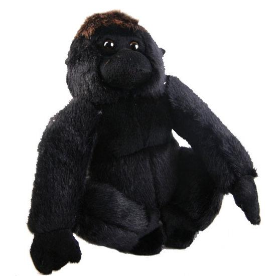 Pluche zittende gorilla 20 cm