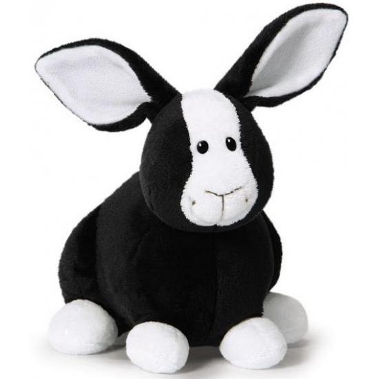 Pluche zwarte konijnen knuffel 16 cm