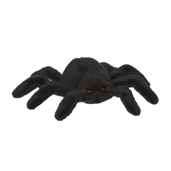 Pluche zwarte spin 13 cm