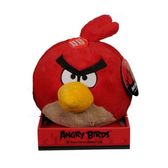 Rode Angrybird knuffel