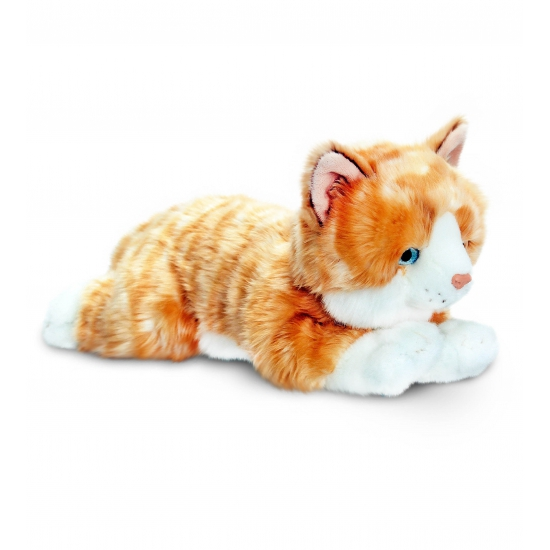 Rode kater knuffel 35 cm