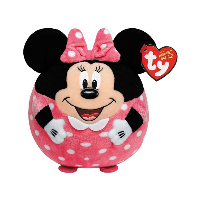 Ronde Disney knuffel Minnie Mouse 12 cm