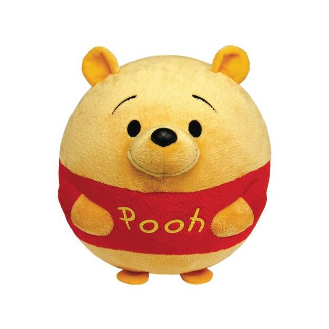 Ronde Disney knuffel Winnie de Pooh 12 cm