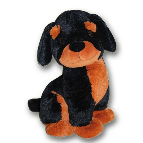 Rottweiler knuffel hond 35 cm
