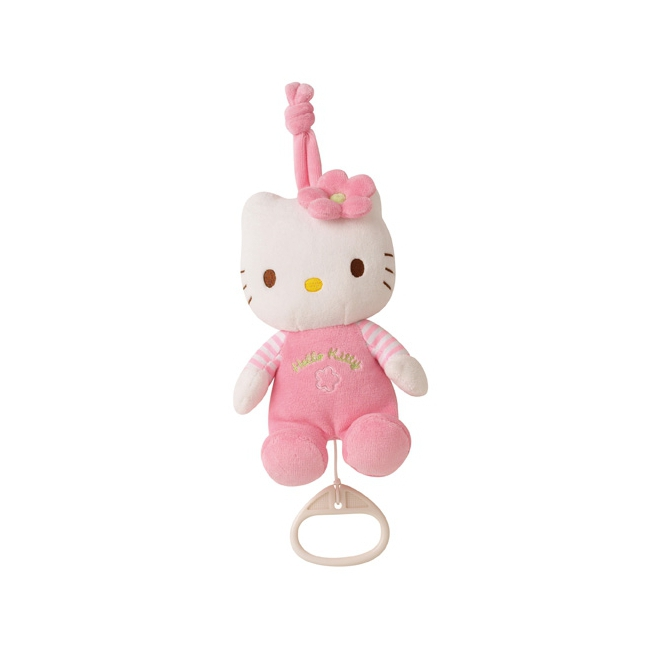Roze knuffel Hello Kitty met muziek