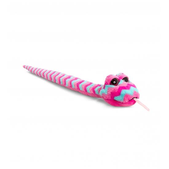 Roze knuffel Slang 100 cm