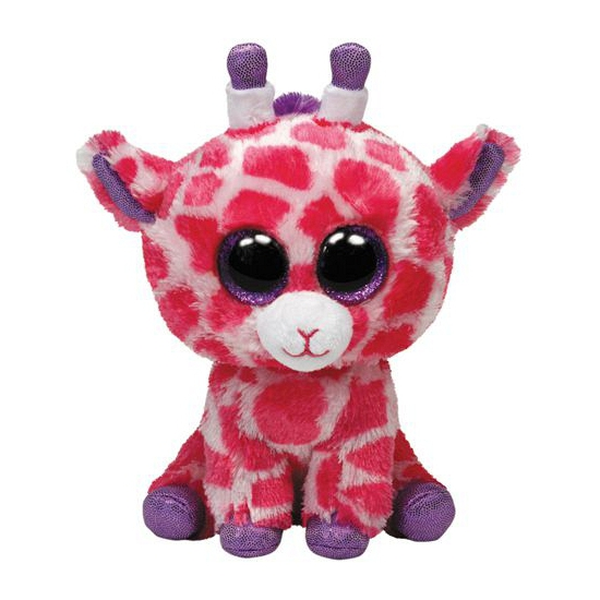 Roze Ty Beanie giraffe kinder knuffel 24 cm