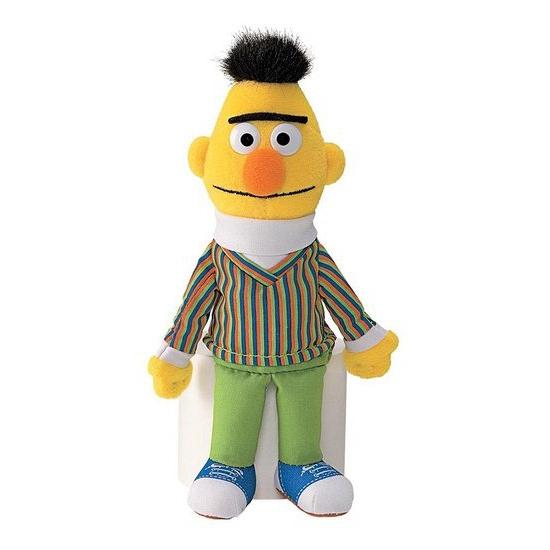 Sesamstraat knuffels Bert 16 cm