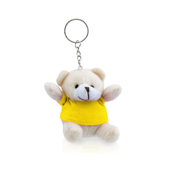 Sleutelhanger beer geel