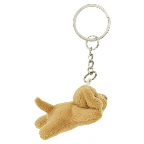 Sleutelhanger labrador hond knuffeltje 6 cm