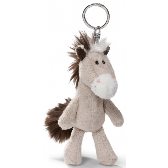 Sleutelhanger met pluche paard 10 cm