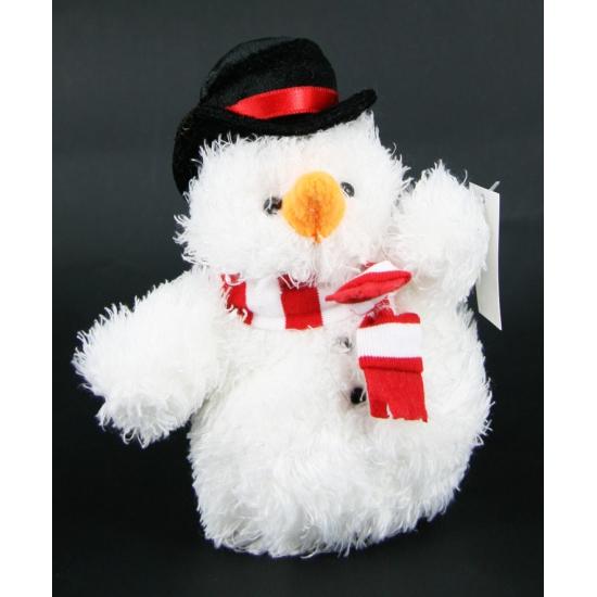 Sneeuwmannen knuffel 14 cm