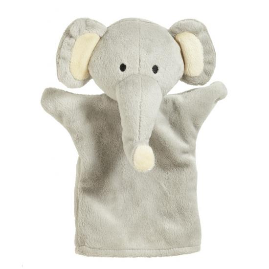 Speelgoed handpop olifant 23 cm