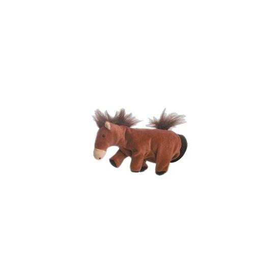 Speelgoed handpop paardje 22 cm