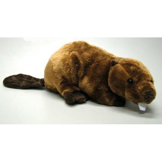 Speelgoed knuffel bever 26 cm