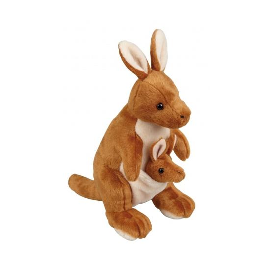 Speelgoed knuffel kangeroo 28 cm