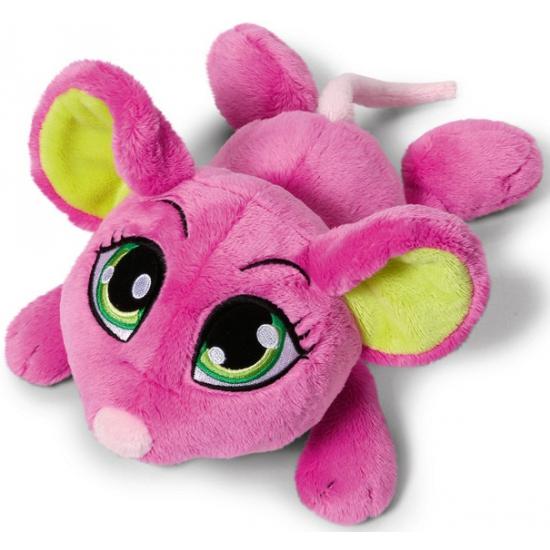 Speelgoed knuffel muis roze 25 cm