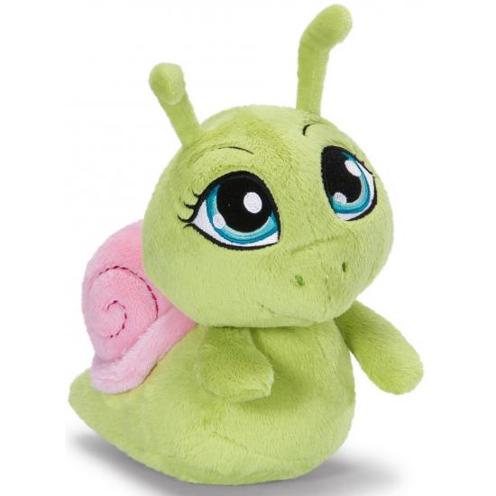 Speelgoed knuffel slak groen 35 cm