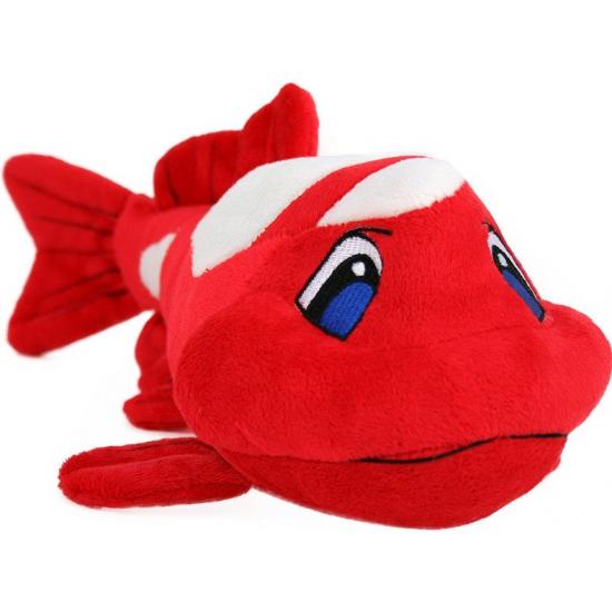 Speelgoed pluche Koi karper rood 41 cm