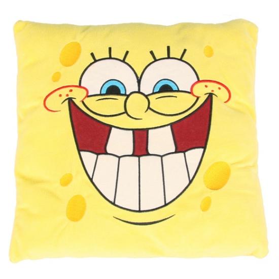 Spongebob glimlach pluche kussen 35 cm