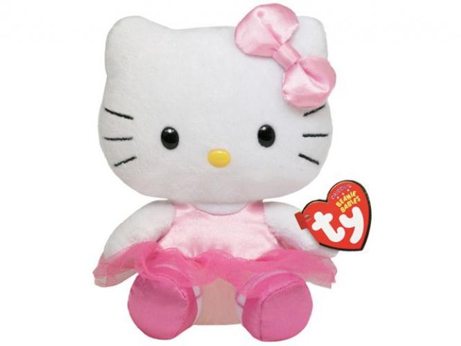 Ty Beanie Babies Hello Kitty knuffel 14 cm