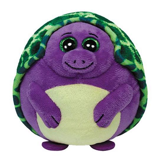 Ty Beanie knuffel schildpad paars 12 cm