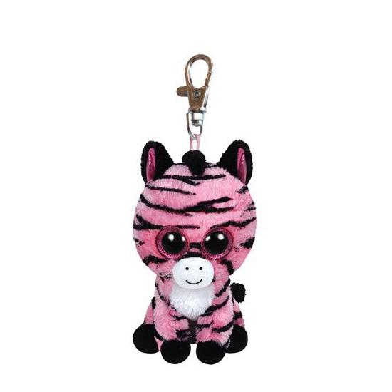 Ty Beanie sleutelhanger zebra 12 cm